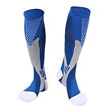 7a48207fd DM Unisex Men Women Leg Support Stretch Magic Compression Socks Sports  Running-Blue