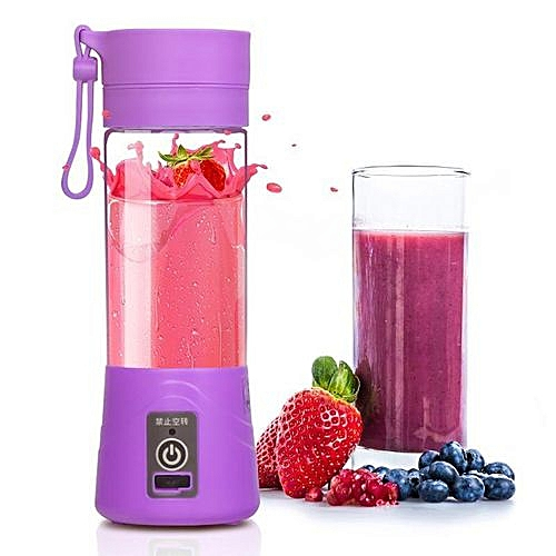 Super Sharp And Fast Rechargeable Juice Blender With Free USB Port (4blades)