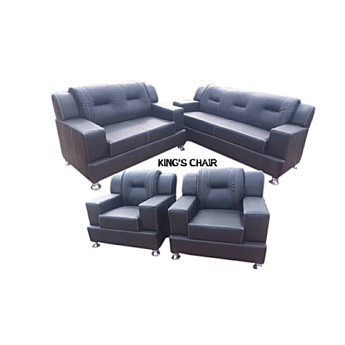 4Runner Leather Sofa Set. BLACK. Order Now And Get OTTOMAN Free. (DELIVERY ONLY IN LAGOS)