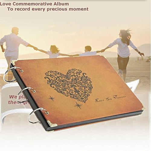 Retro Scrapbook Photo Albums Notebook Handmade DIY Wedding Love New Year Gift