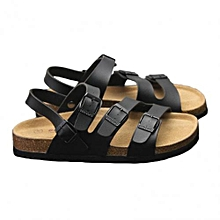 c3b0ef4b395d Male Black Comfortable Crok Sandals Flip Flop