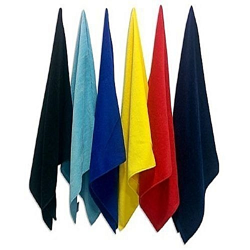 Colourful Hand Towels - Pack Of 6 - Multicolour