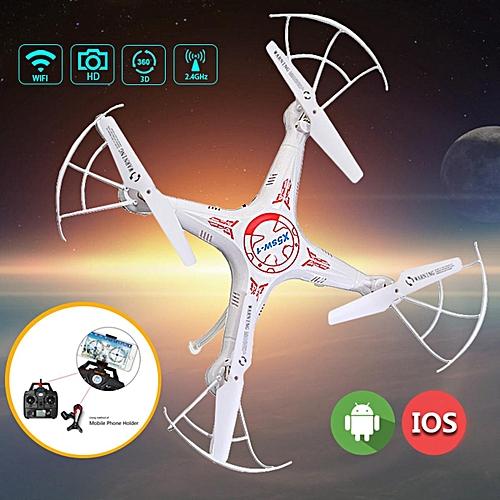 X5SW-1 WiFi Mini FPV 2.4Ghz 4CH 6Axis RC Quadcopter Drone 2MP HD Camera RTF Pro White