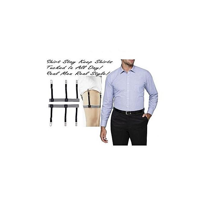ecae86473 Fashion Unisex Hidden Men Shirt Stay (Shirt Suspenders