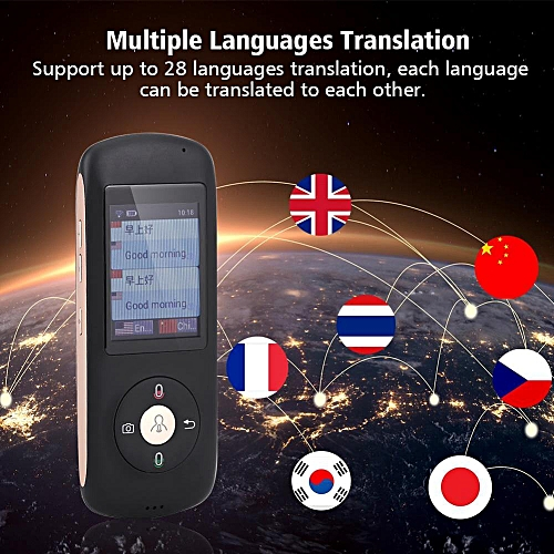 2.4IN Touch Screen WIFI Bluetooth Pocket Interpreter Real Time Voice Multilingual Translator