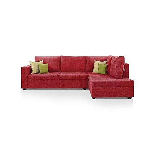 5 Seater L-Shaped Sofa Chair Couch With Pillows