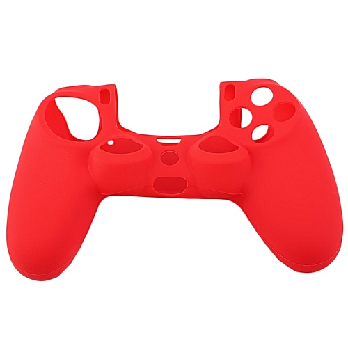 Allwin New Soft Silicone Rubber Gel Skin Non-slip Case Cover For PS4 Controller-Red