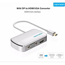 Thunderbolt Displayport To HDMI VGA Adapter For Apple MacBook Pro IMac Mac HDTV Projector 2 In 1