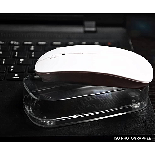Bluetooth 2.4Ghz Optical Wireless Mouse For Apple And Windows - White