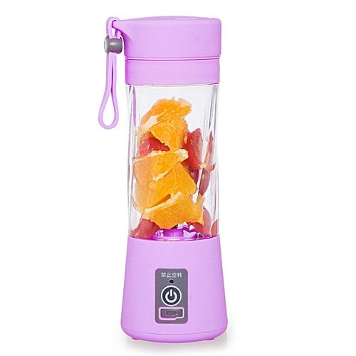 Portable Mini Electric Juicer 4 Knives Multifunctional Electric Fruit Juice Machine USB Rechargeable Pocket Sports Bottle Cup Blender