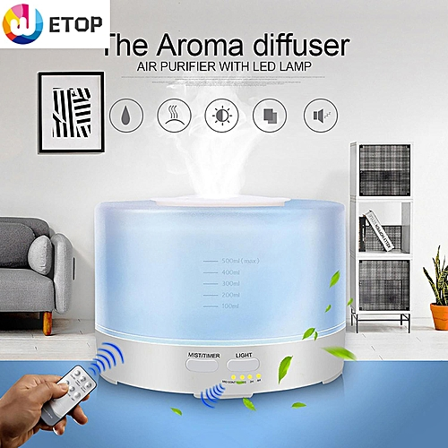 Aroma Diffuser Inspire Air Humidifiers Ultrasonic Aromatherapy Essential Oil Diffuser Wooden Air Purifier Cool Mist Quiet Design For Home, Office, Bedroom, Yoga, Spa(500ml)