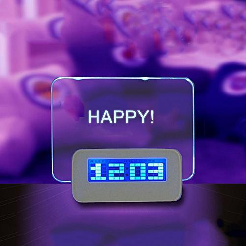 Message Board Digital Alarm Clock LCD Electronic Clock