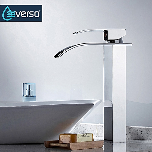 Bathroom Faucet Deck Mounted Waterfall Faucet Single Hole Basin Faucet Brass Material Basin Mixer Tap Water Torneira