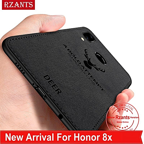 be47c7b7967e48 Rzants Rzants For Huawei Honor 8X Case Shockproof Rugged  elk  Slim Hybrid  Hard Cover Phone Casing With Linen Cloth Fabric Design Canvas Stripe Leather  ...