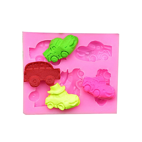 Cake Mold 5 Car Mould Handmade Pink Silicone Bar Chocolate Baking Tool Pastry Cake Tool
