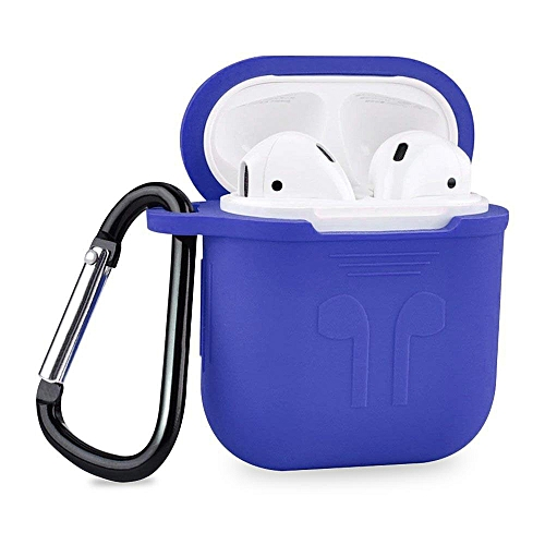78b3e051292 Generic Airpods Apple Wireless Bluetooth Headsets Earphone Waterproof  Protective Shock Silicone Charging Cover With Hook Cover (Blue) CHSMALL