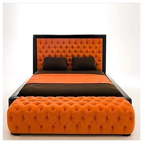 Galaxy 6by7bedframe+Legrest-Free Pillows-Free Lagos Delivery