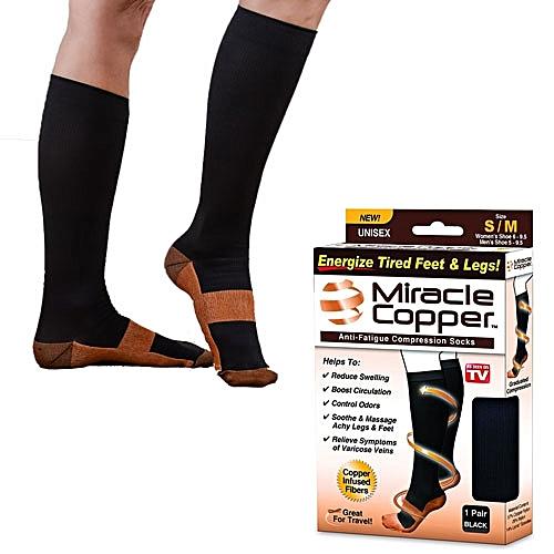 043b9f4bbc Miracle Copper Anti Fatigue Compression Socks - Black | Jumia NG