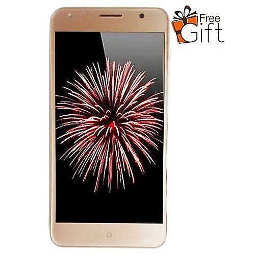 "Desire 5"" (1GB, 8GB), 5MP+ 2MP 2500mAh Dual SIM 3G - Gold (Plus Free Back Case & Tempered Glass)"