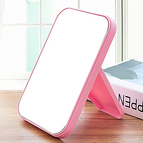 Cosmetic Make Up Mirror Table Model Square Fold - White