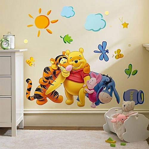 Winnie Pooh Tigger Wall Sticker Cartoon Art Sticker For Child Room Decor