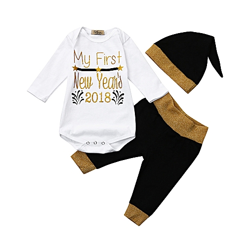 88ef28e9c682 Fashion Baby Outfit Newborn Infant Baby Boy Girl Letter Romper Tops+ ...