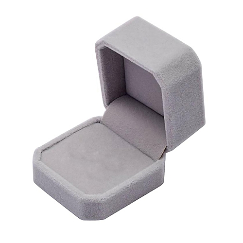 Squre Wedding Velvet Earrings Ring Box Jewelry Display Case Gift Boxes Amazing Gray
