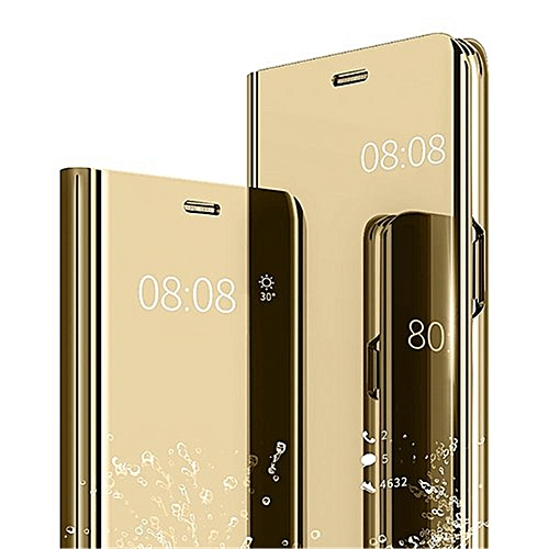 more photos 26806 8b8ee Huawei Y6 Prime 2019 Plating Mirror Leather Case - Gold