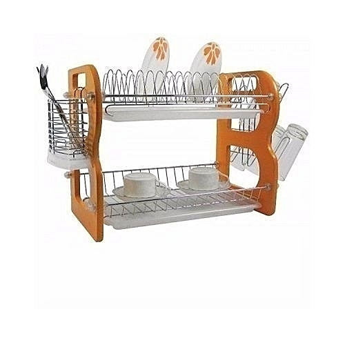 Plate Rack /Dish Drainer 2 Layers- 16 Inches
