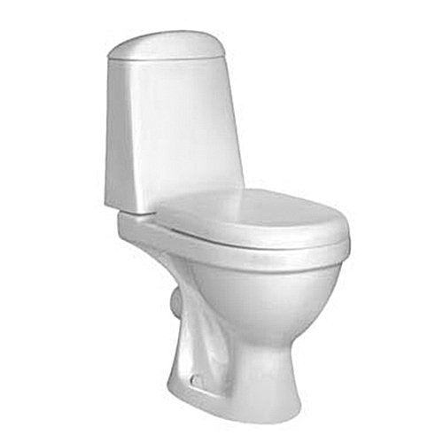 WATER CLOSET- CLOSE COUPLE TOILET WITH DUAL FLUSH COMPLETE WITH SEAT COVER