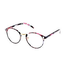 13cd6634f5 Classic Fashion Floral Design Round Shape Eye Glasses (Multicolor)