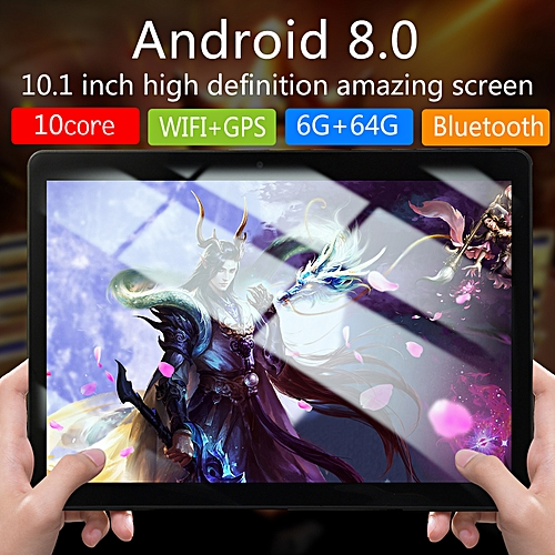 HOT SALE 10.1'' 6G+64GB Android 7.0 Tablet PC Octa 8 Core HD
