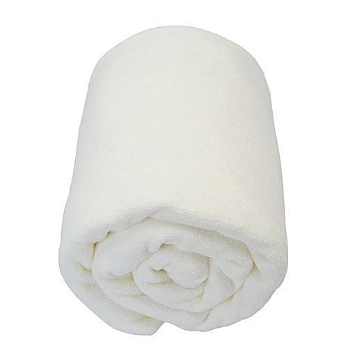 White Large Cotton Bath Towel