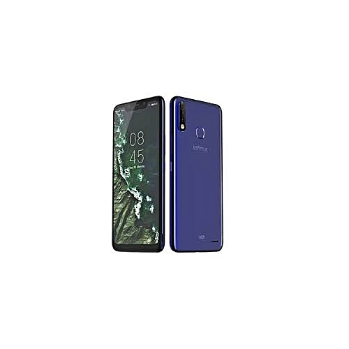 HOT 7 Pro (X625B) 6.2-Inch HD+ (3GB,32GB ROM) Android 9 Pie (13MP+2MP) (13MP+2MP) 4000mAh Dual SIM 4G Face & Fingerprint ID Smartphone - Aqua Blue