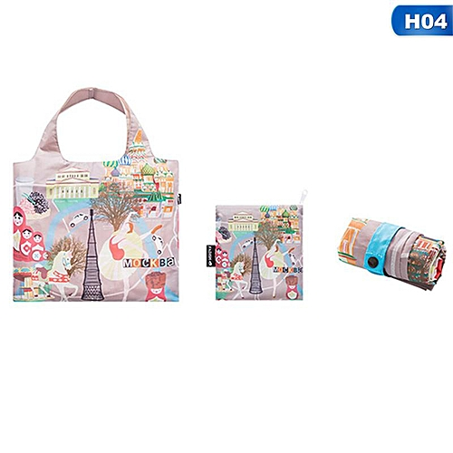 Eco Friendly Shopping Bags Waterproof Travel Custom Reusable Handbag Women Shoulder Cloth Pouch Foldable H04