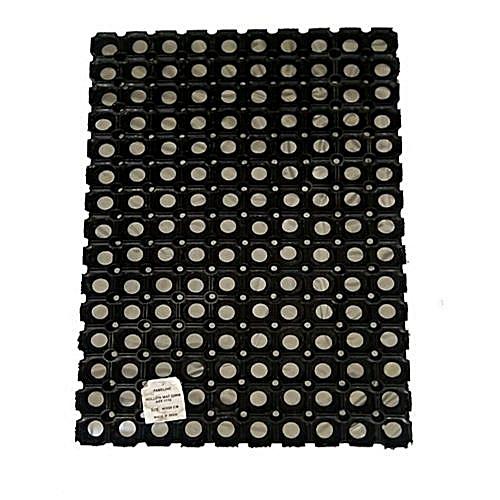 Hollow Ring Rubber Mat (2 Sets) - Black..