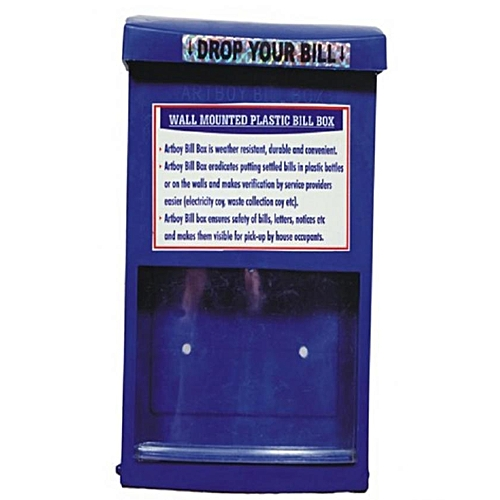 Wall Mounted Letter Box - Blue