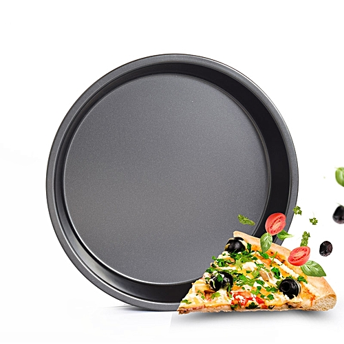 DIHE 9Inch Carbon Steel Pizza Pan One Design Rugged And Durable