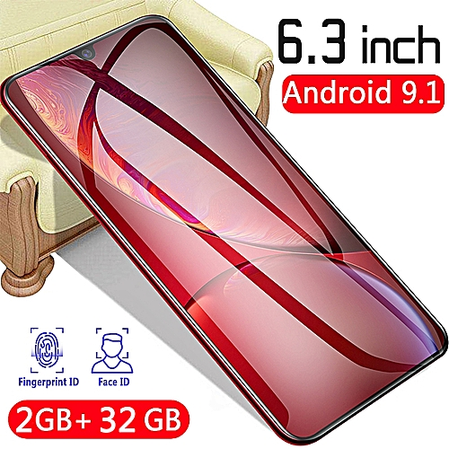 Universal P35 PRO Android 9 1 Touch Screen 6 3 Inch 2G + 32GB Face  Recognition 8 Core 4800mAh Smartphone