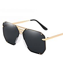 2ea74b08dc4 Flat Top Square Sunglasses Men Uv400 Metal Frame - Gold