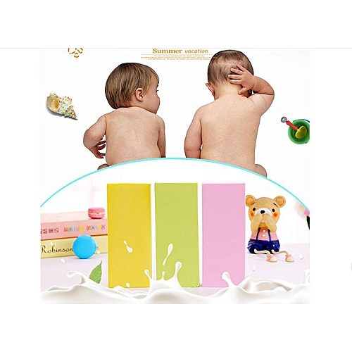 RockFox Outlet Super Soft Baby/Women Double Sided Soft Scrub Exfoliating Sponge Bathroom Body Cleaning Tool ,Sponge Bath Foam Rub Shower Sponge Rubbing Towel Baby Bath Foam Rub Shower Sponge. Set Of 3 Colors