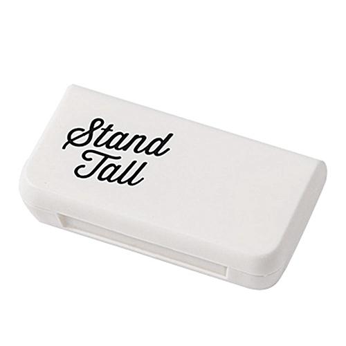 Mini 3 Grids Pill Case Portable Medicine Box Multi-styles Storage Container(Letters)
