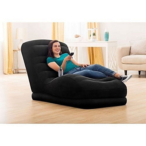 Inflatable Mega Lounge Chair With Built-In Cup Holder