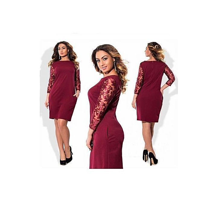 Women Dresses Sizes Office Lady Formal Dress Half Sleeve Vestidos Casual O Neck