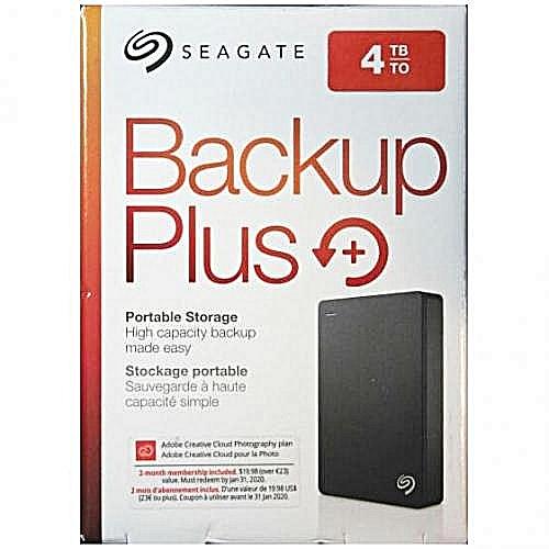 Backup Plus 4TB External USB 3.0/2.0 Portable Hard Drive