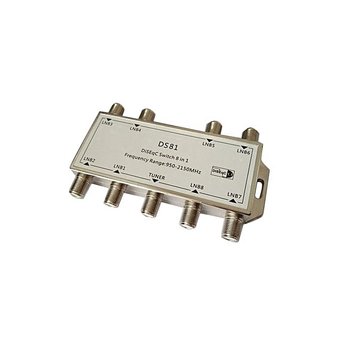 DS81 8 In 1 Satellite Signal DiSEqC Switch LNB Receiver Multiswitch