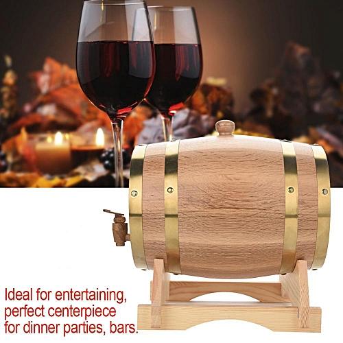 Vintage Wood Oak Timber Wine Barrel For Beer Whiskey Rum Port (5L)