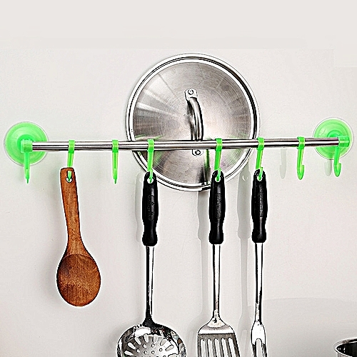 Towel Rack Single Bar Cloth Hanger Suction Cup Home Organizer