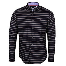 ae60a6769 Men  039 s New-York-Fit Thin-Stripes Shirt - Navy