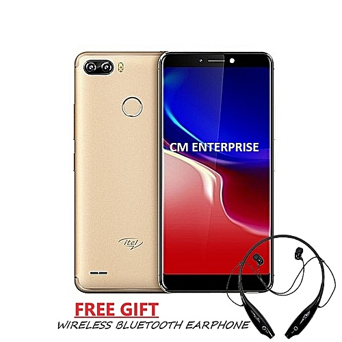 P32 - (1GB RAM + 16GB ROM) Dual Camera + FREE CASE & WIRELESS BLUETOOTH EARPHONE - Champagne Gold